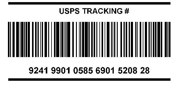 USPS IMpB Example Bar Code